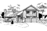 Contemporary House Plan Front of Home - 072D-0276 | House Plans and More