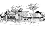 Contemporary House Plan Front of Home - 072D-0277 | House Plans and More
