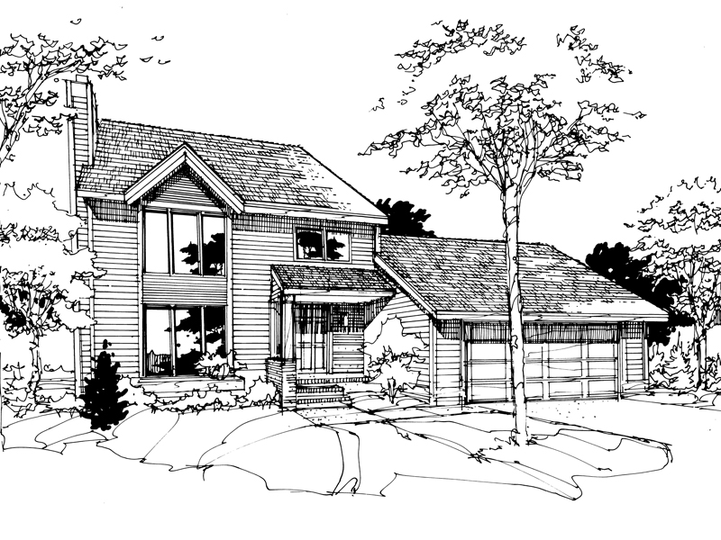 Country House Plan Front of Home - 072D-0278 | House Plans and More