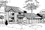 Modern House Plan Front of Home - 072D-0278 | House Plans and More