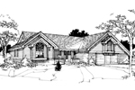 Ranch House Plan Front of Home - 072D-0279 | House Plans and More