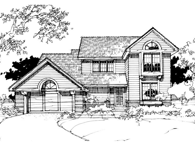 Traditional House Plan Front of Home - 072D-0280 | House Plans and More