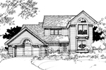 Contemporary House Plan Front of Home - 072D-0280 | House Plans and More