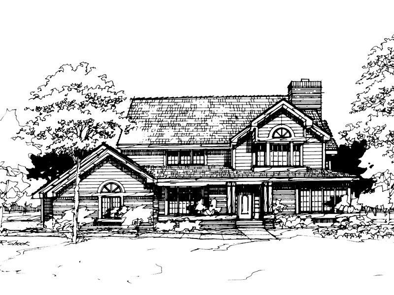 Country House Plan Front of Home - 072D-0281 | House Plans and More