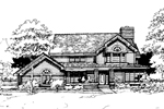 Farmhouse Plan Front of Home - 072D-0281 | House Plans and More