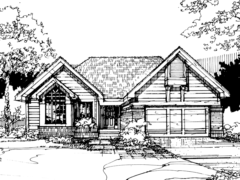 Modern House Plan Front of Home - 072D-0282 | House Plans and More