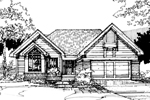 Ranch House Plan Front of Home - 072D-0282 | House Plans and More
