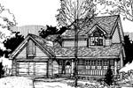 Farmhouse Plan Front of Home - 072D-0283 | House Plans and More
