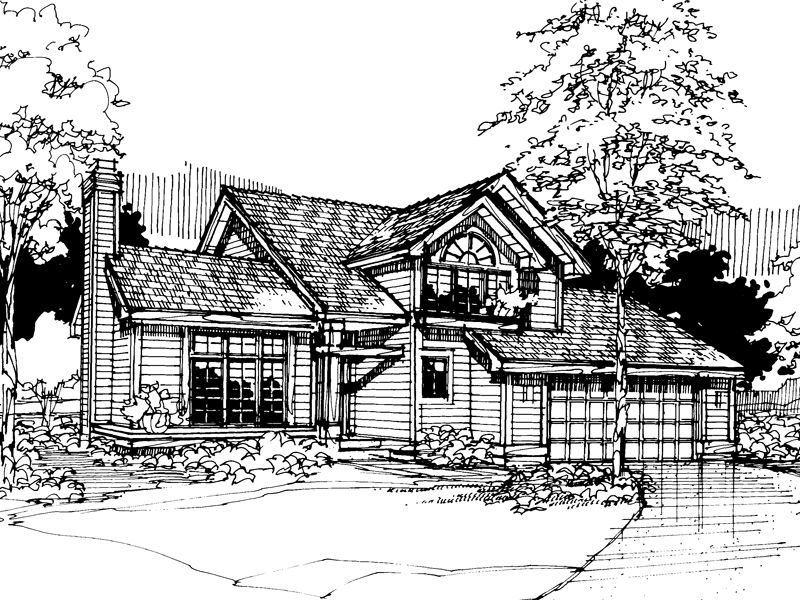 Modern House Plan Front of Home - 072D-0284 | House Plans and More