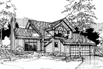 Contemporary House Plan Front of Home - 072D-0284 | House Plans and More