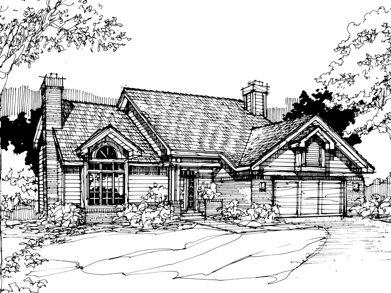 Traditional House Plan Front of Home - 072D-0285 | House Plans and More