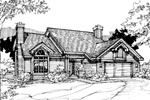Contemporary House Plan Front of Home - 072D-0285 | House Plans and More