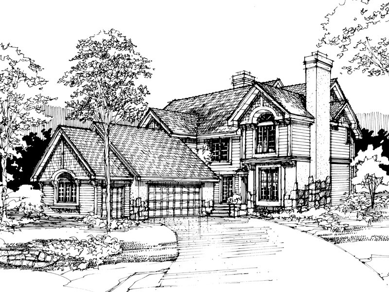 Traditional House Plan Front of Home - 072D-0286 | House Plans and More