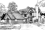 Southern House Plan Front of Home - 072D-0286 | House Plans and More