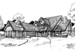 Contemporary House Plan Front of Home - 072D-0287 | House Plans and More