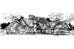 Traditional House Plan Front of Home - 072D-0288 | House Plans and More