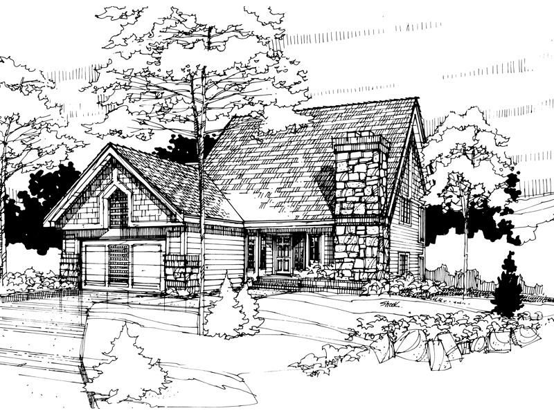 Traditional House Plan Front of Home - 072D-0289 | House Plans and More