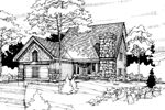 Saltbox House Plan Front of Home - 072D-0289 | House Plans and More