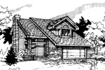 Bungalow House Plan Front of Home - 072D-0290 | House Plans and More