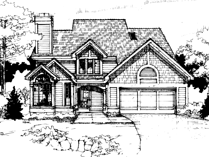 Shingle House Plan Front of Home - 072D-0291 | House Plans and More