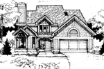Contemporary House Plan Front of Home - 072D-0291 | House Plans and More
