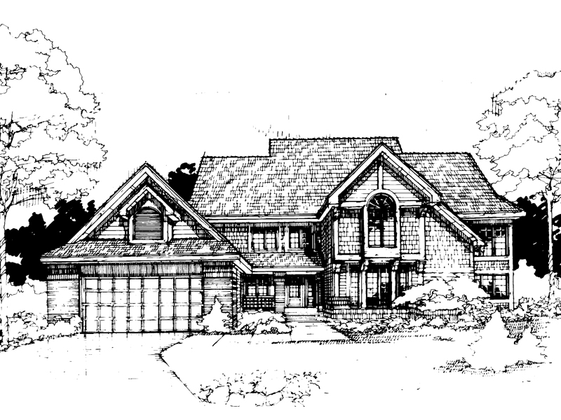 Traditional House Plan Front of Home - 072D-0292 | House Plans and More