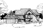 Contemporary House Plan Front of Home - 072D-0292 | House Plans and More
