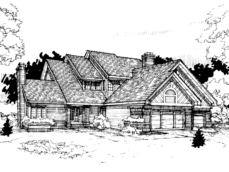 Country House Plan Front of Home - 072D-0293 | House Plans and More