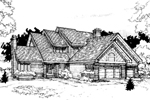 Traditional House Plan Front of Home - 072D-0293 | House Plans and More