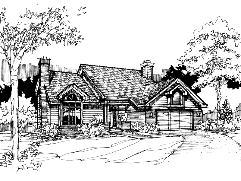 Modern House Plan Front of Home - 072D-0294 | House Plans and More