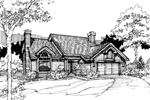 Contemporary House Plan Front of Home - 072D-0294 | House Plans and More