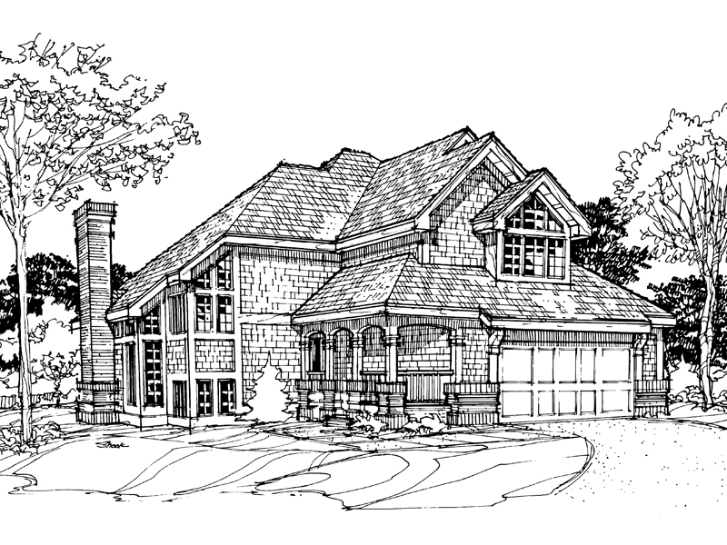 Traditional House Plan Front of Home - 072D-0295 | House Plans and More
