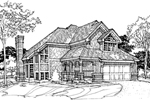 Modern House Plan Front of Home - 072D-0295 | House Plans and More