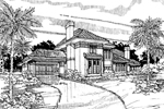 Santa Fe House Plan Front of Home - 072D-0296 | House Plans and More