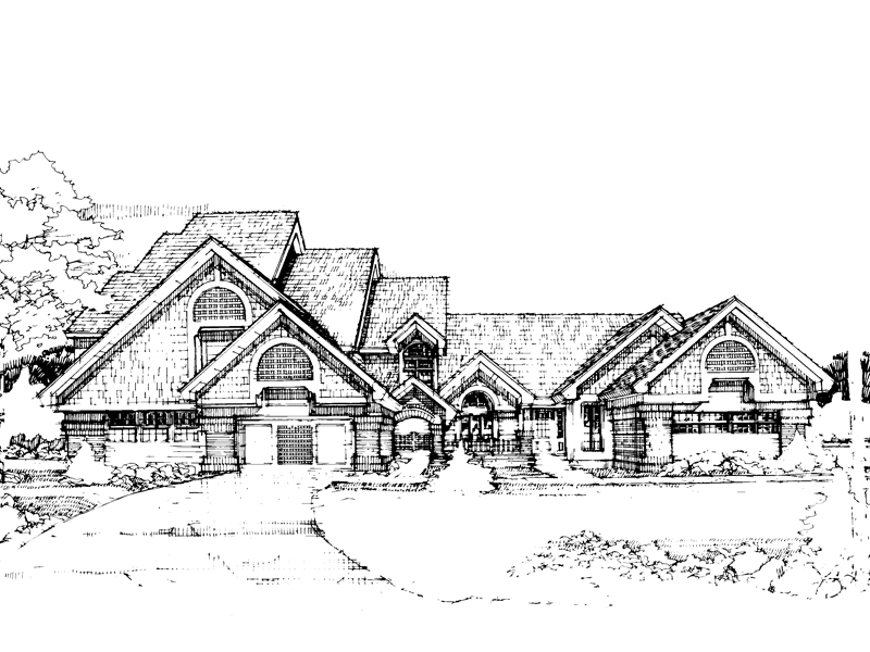 Traditional House Plan Front of Home - 072D-0297 | House Plans and More