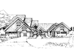 Neoclassical Home Plan Front of Home - 072D-0297 | House Plans and More