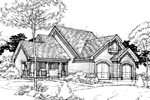 Farmhouse Home Plan Front of Home - 072D-0298 | House Plans and More