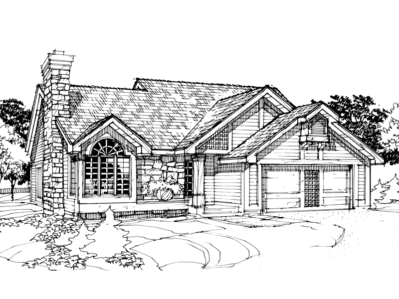 Craftsman House Plan Front of Home - 072D-0299 | House Plans and More