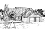 Traditional House Plan Front of Home - 072D-0299 | House Plans and More