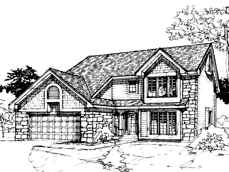 Modern House Plan Front of Home - 072D-0300 | House Plans and More