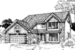 Contemporary House Plan Front of Home - 072D-0300 | House Plans and More
