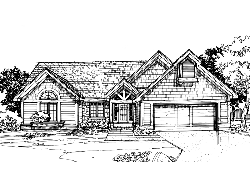 Country House Plan Front of Home - 072D-0301 | House Plans and More
