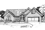 Ranch House Plan Front of Home - 072D-0301 | House Plans and More