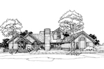 Contemporary House Plan Front of Home - 072D-0303 | House Plans and More