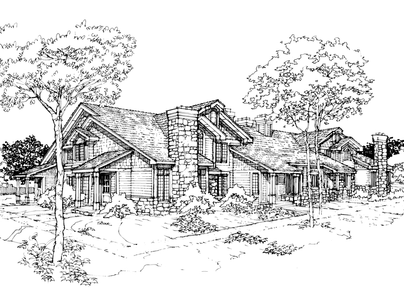 Country House Plan Front of Home - 072D-0305 | House Plans and More