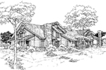 Traditional House Plan Front of Home - 072D-0305 | House Plans and More