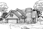 Ranch House Plan Front of Home - 072D-0306 | House Plans and More