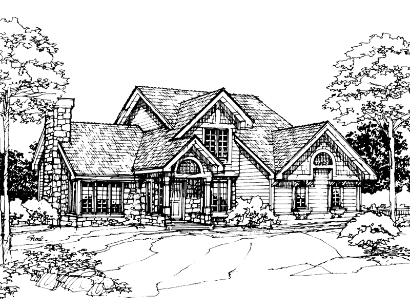 Contemporary House Plan Front of Home - 072D-0308 | House Plans and More