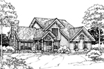 Traditional House Plan Front of Home - 072D-0308 | House Plans and More