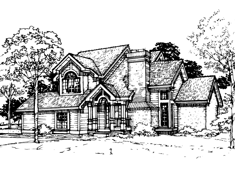 Traditional House Plan Front of Home - 072D-0309 | House Plans and More